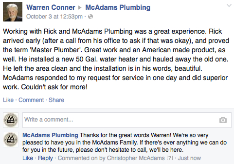 Plumbing Testimonial