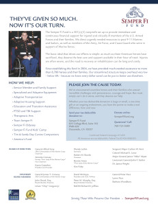 McAdams Plumbing Semper Fi Fund